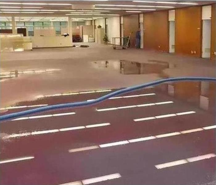 Commercial Water Damage – Crossville Offices Before