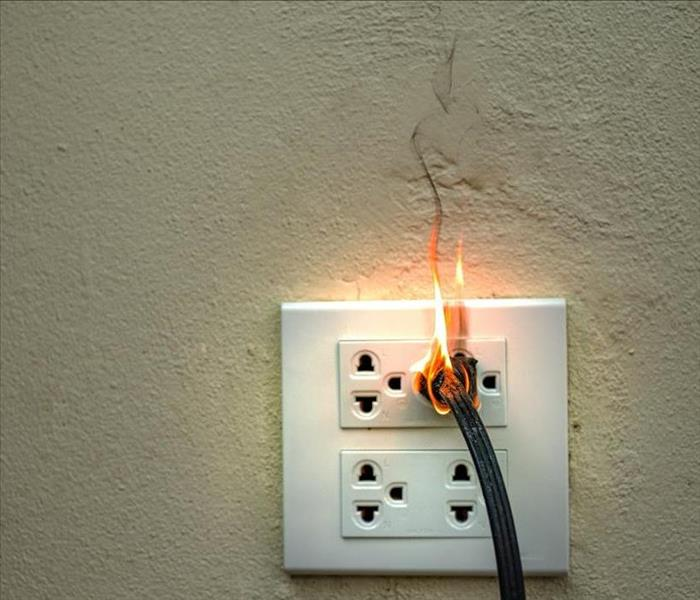 electrical fire in the socket